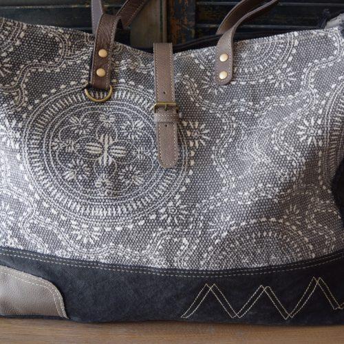 Taupe Filigree Weekend Bag