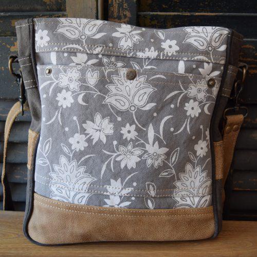 Crossbody White Blossom Shoulder Bag