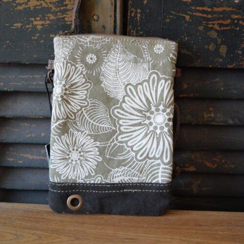 Mini White Flowers Crossbody Bag