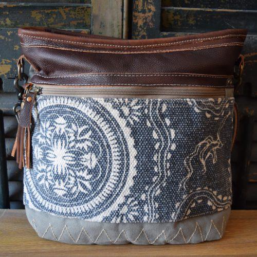 Crossbody Blue Filigree Tassel Shoulder Bag