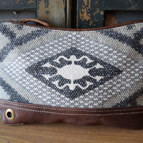 Navajo Leather Wristlet