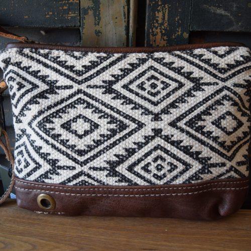 Aztec Leather Wristlet