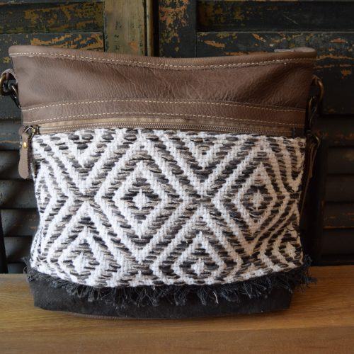 Crossbody X Pattern Shoulder Bag