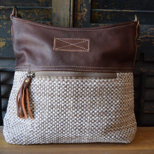 Crossbody Brown Tweed Shoulder Bag