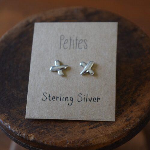 X Petite Sterling Silver Earrings