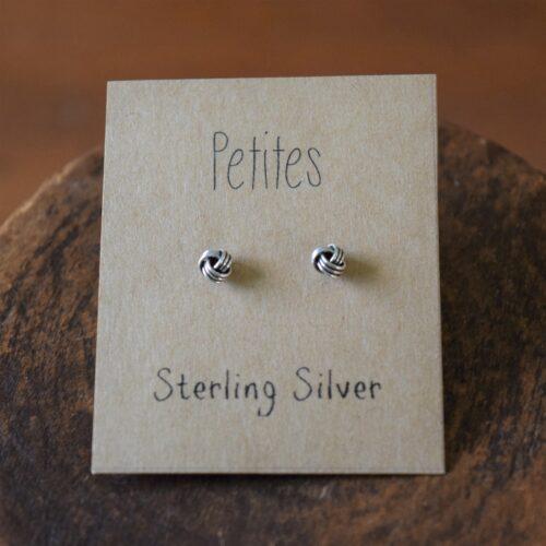 Love Knot Petite Sterling Silver Earrings