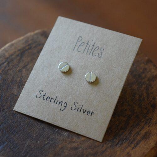 Screw Top Petite Sterling Silver Earrings