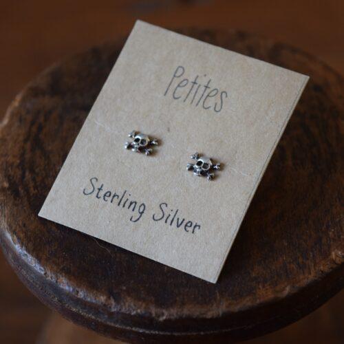 Skull Petite Sterling Silver Earrings