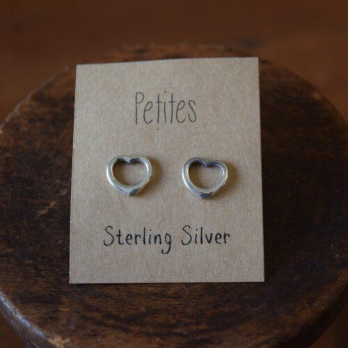 Heart Petite Sterling Silver Earrings