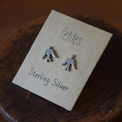 Birds Petite Sterling Silver Earrings