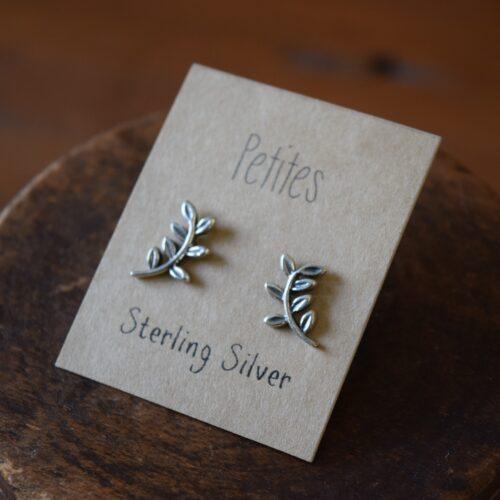Leaf Crawlers Petite Sterling Silver Earrings