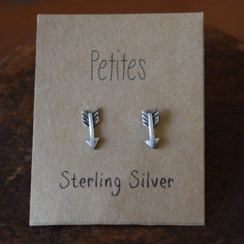 Arrow Petite Sterling Silver Earrings