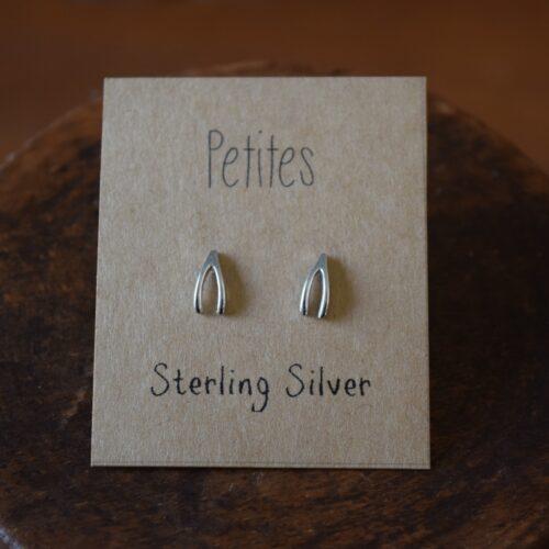 Wishbone Petite Sterling Silver Earrings