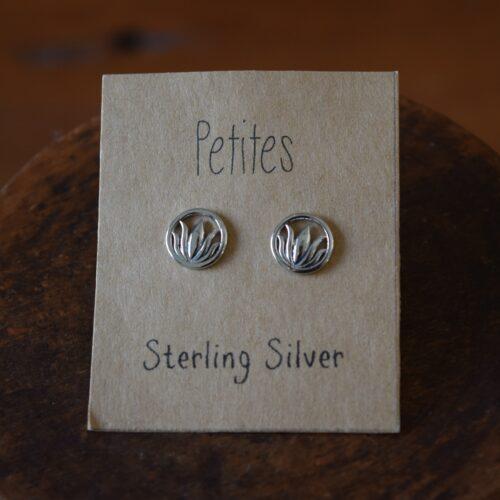 Lotus Petite Sterling Silver Earrings