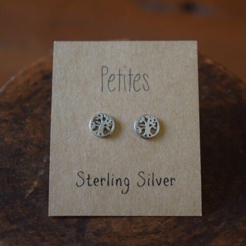 Tree Of Life Petite Sterling Silver Earrings
