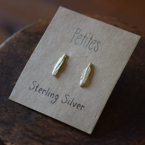 Feather Petite Sterling Silver Earrings