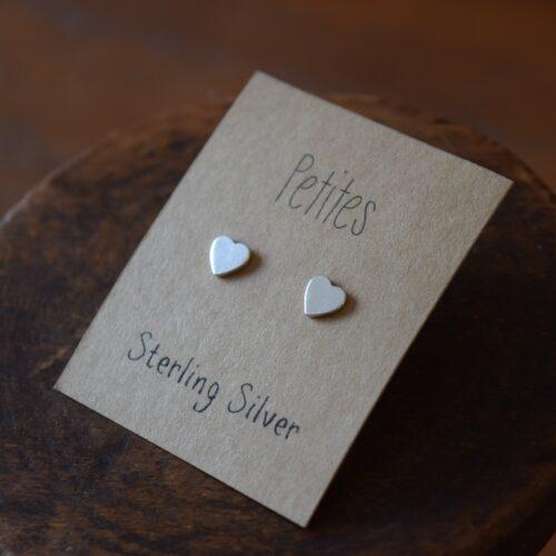 Hearts Petite Sterling Silver Earrings