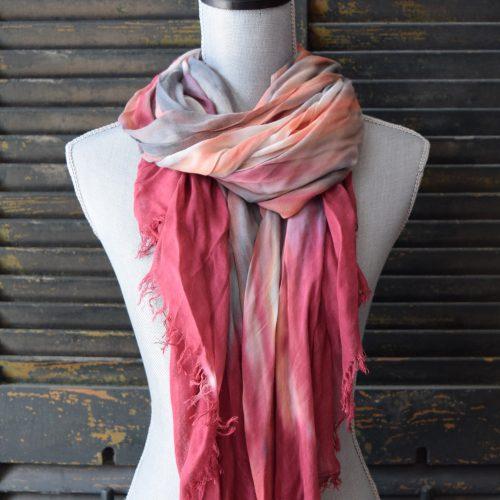Pink/Orange Modal Scarf