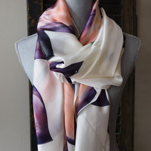 Purple Floral Scarf