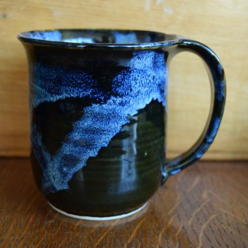 Dark Blue Pottery Mug