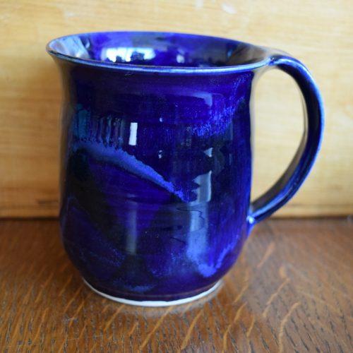 Cobalt Blue Pottery Mug