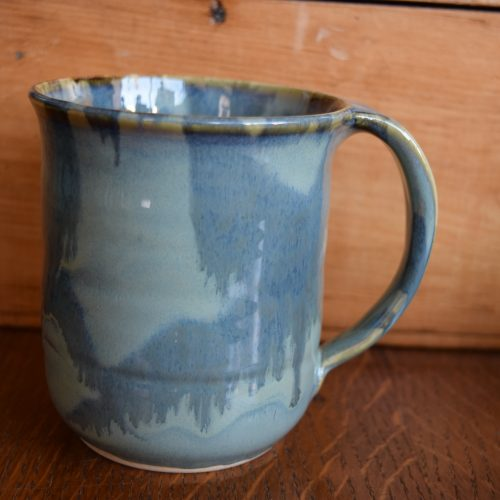 Light Blue Pottery Mug