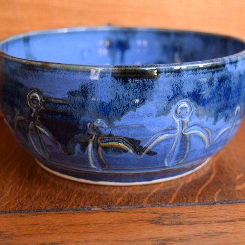 Med Blue Friendship Bowl