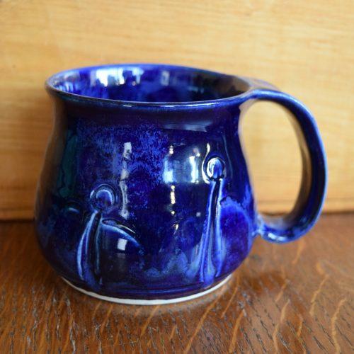 Cobalt Blue Friendship Pottery Mug